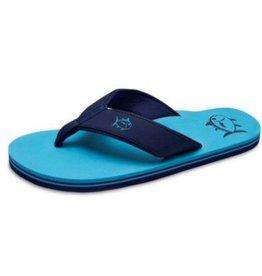 SOUTHERN TIDE Mens Flip Flops- Scuba Blue