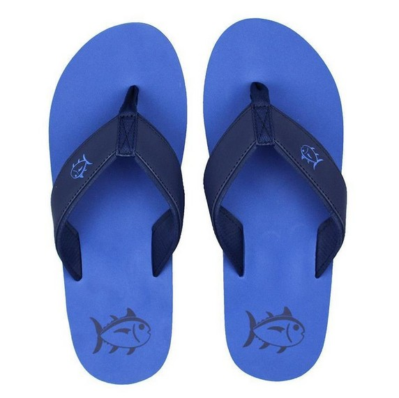 Southern Tide Mens Flip Flops Royal Blue Cheeky Bliss