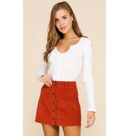 You're My Favorite Knit V-Neck Top- White