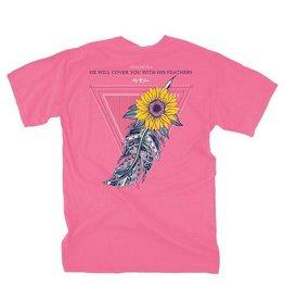 LG-Sunflower Feather-SS-Crunchberry