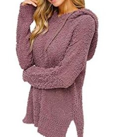 As You Are Popcorn Pullover Sweater- Mocha