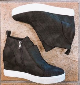 Chic Improvements Wedge Sneaker- Black