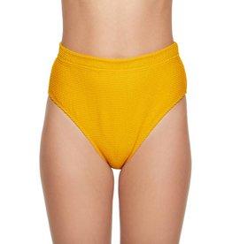 Pucker Up High Waist High Leg Bikini Bottom- Turmeric