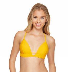 Smoothies Molded Push Up Bra Bikini Top- Turmeric