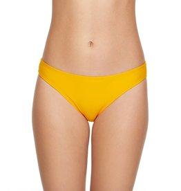 Smoothies Back Ruched Hipster Bikini Bottom- Turmeric
