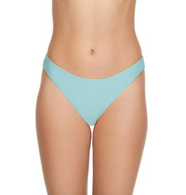 Smoothies Back Ruched Hipster Bikini Bottom- Vintage Teal