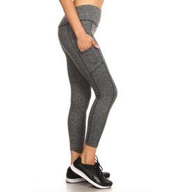Commitment To Cool Full Length Fleece Leggings - Grey