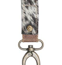 MYRA BAG Black & White Key Fob