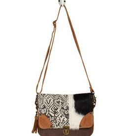 MYRA BAG Rug & Hairon Flap Messenger Bag