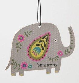 Air Freshener Grey Elephant Be Happy