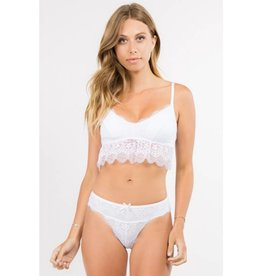 Make It Sweet Lace Bralette- White