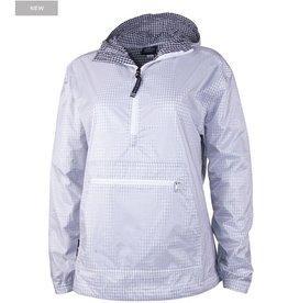 CHARLES RIVER Sheer Gingham Anorak Rain Jacket - Navy/White