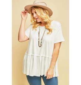Gets Me Going Solid Scoop Neck Top - Ivory