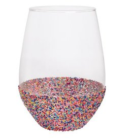 Stemless Wine Glass- Bead 20oz