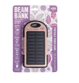 Beam Bank Portable Rechargable Battery- Rose Gold