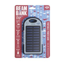 Beam Bank Portable Rechargable Battery- Charcoal