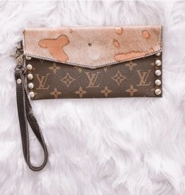 e5379f8a484 UPCYCLED LV No Nonsense Handbag- Rose Gold