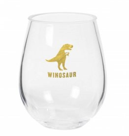 Winosaur Stemless Acrylic Wine Glass