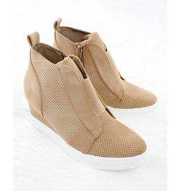 Chic Improvements Wedge Sneaker- Oatmeal