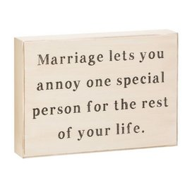 Marriage Lets You Box Sign