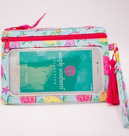 SIMPLY SOUTHERN Phone Wristlet- Floral Turtle