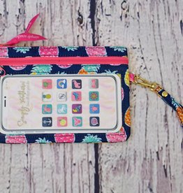 SIMPLY SOUTHERN Phone Wristlet- Pineapple
