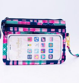 SIMPLY SOUTHERN Phone Wristlet- Multi Patch
