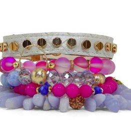Erimish Stackable Bracelet Set - Orchid Set