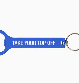 Take Your Top Off Bottle Opener - Blue