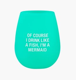 Mermaid Silicone Wine Glass