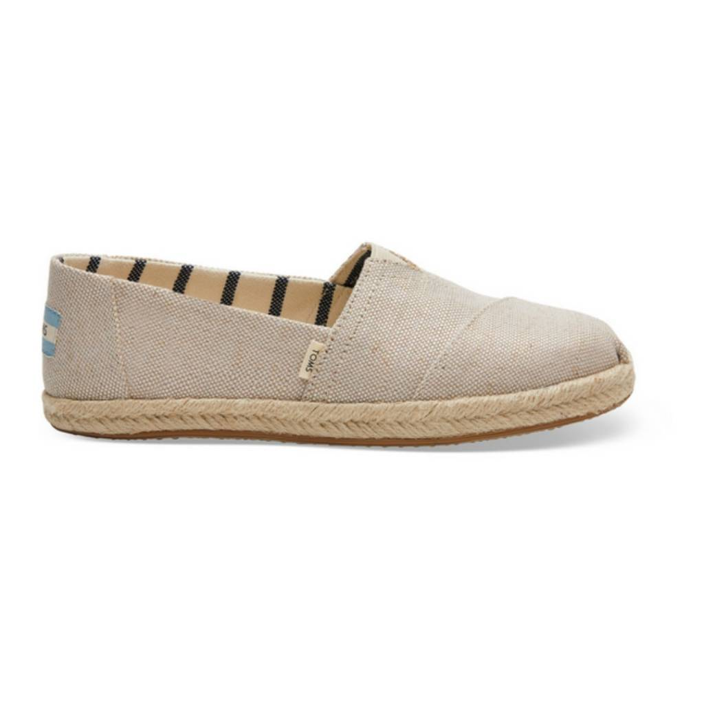 ad83f94d2 TOMS Women's Espadrilles - Pearlized Metallic Canvas - Cheeky Bliss
