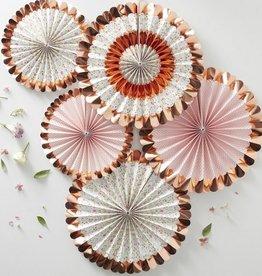 Fan Decorations - Floral- 5 Pk