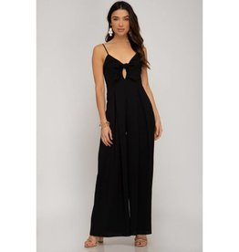 Summer Escapes Wide Leg Jumpsuit - Black