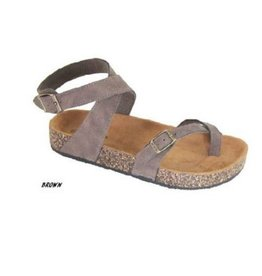 Everyday Vacay Ankle Strap Bork Sandal - Brown