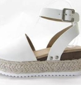 Head Turner Strappy Espadrilles - Off White