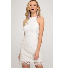 Living For The Next Party Lace Bodycon Dress - Off White