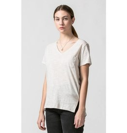 Day by Day V-Neck Top With Pocket - Alpaca