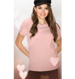 Just A Common Girl Top - Blush
