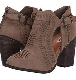 NOT RATED Nara Peek Heel Bootie - Taupe