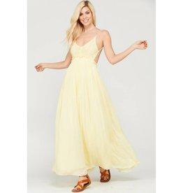 You Belong Somewhere Maxi Dress - Yellow