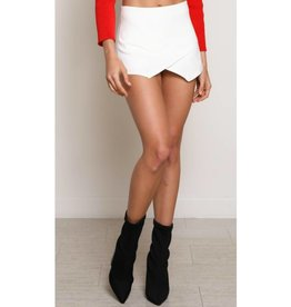 Off She Goes Skort - Ivory