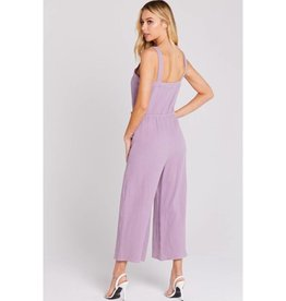 Time and Time Again Gaucho Sleeveless Jumpsuit - Violet