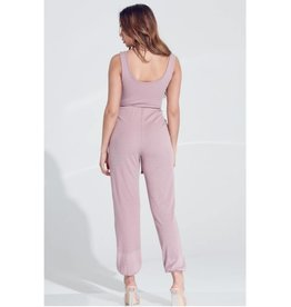 Come and Get It Ankle Band Jumpsuit - Sage