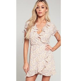 Got The Time Floral Ruffled Detailed Mini Dress - Cream