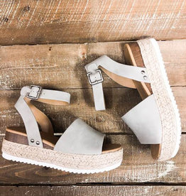 Head Turner Strappy Espadrilles - Grey