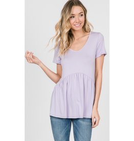 All Ruffled Up Blouse - Lavender
