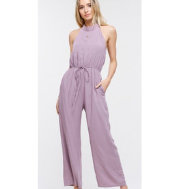 Glitter and Glam Halter Neck Jumpsuit - Lilac