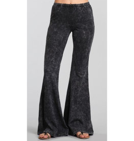 Nine To Five Bell Bottom Pants - Grey