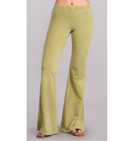Nine To Five Bell Bottom Pants - Pear