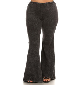 Nine To Five Bell Bottom Pants- Grey